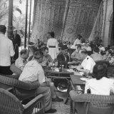 Egyptian Magician Doing Table Tricks on Terrace of Shepheard's Hotel