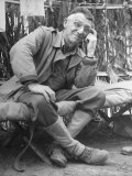 Gen Joseph Stilwell at Headquarters During Burma Campaign
