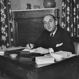 French Journalist Fernand De Brinon Sitting at His Desk