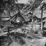 US Marines Relaxing in their Tent City
