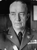 Superintendent Major General Robert L Eichelberger of the Us Military Academy at West Point