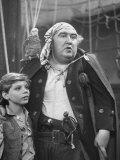 "Actors Peter Auramo and Francis L Sullivan in TV Adaptation of ""Treasure Island"""