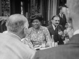 Edith S Sampson and Cyrille Makinsky at Fouquet's Restaurant