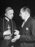 Monseigneur Fernando Cento Talking with Dr Joseph H Retinger