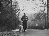 Boxer Joe Frazier Training for a Fight Against Cassius Clay  Aka Muhammad Ali