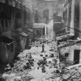 Rubble Lying in the Streets after Arab Looting of Jewish Homes