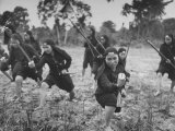 Hoa Hao Women's Troops Training for Jungle War with Sabers  in French Indo China