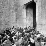 Jewish Families Leaving City Through Zion's Gate