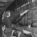 Two Women Operating Switchboard During Chesapeake and Potomac Telephone Strike