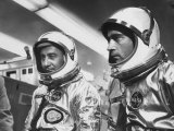 Astronauts Virgil I Grissom and John W Young in Spacesuits