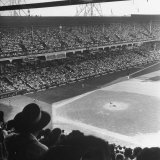 Crowd of Baseball Fans Attending Game at Ebbets Field
