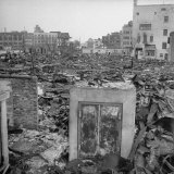 Scorched Ruins of Tokyo  a Result of Massive Allied Air Raid Attacks During the War