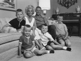 Baseball Player Mickey Mantle at Home with Family