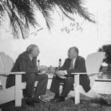 British Economist John Maynard Keynes and Harry D White Meeting at the Monetary Conf