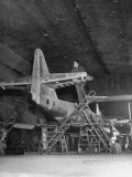 Unidentified Bomb-Damaged Aircraft Factory Struggling to Produce after Allied Air Attack