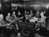 Publisher E K Gaylord Meeting with the Staff of His Newspaper &quot;The Daily Oklahoman&quot;