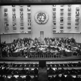 Gallery of the Palais De Chaillot in Paris at the United Nations Security Council October Session