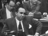 Gangster Mickey Cohen Testifying at Kefauver Hearings During Crime Probe
