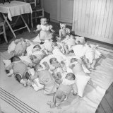 War Babies with American Gi Fathers at 'Cradles of Rouen' Nursery