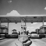 Aluminum Toll Booths Along Newly Constructed Ny State Thruway