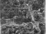 Aerial View of Bomb-Damaged Residential Areas after an Allied Air Attack on This Devastated City