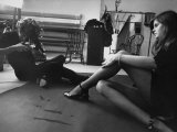 Fashion Photographer Thomas Patrick John Anson  Earl of Lichfield  Photographing Model Sarah Lloyd