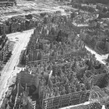Bombed Out Buildings in Berlin Following Allied Capture of the City