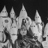 The Grand Dragon of the Ku Klux Klan  Samuel Green  with Other Klansmen in Hoods