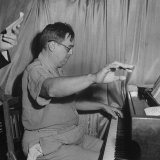Composer Ernesto Lecuona Playing Piano for British Radio Program