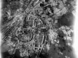 Aerial View of Crater-Riddle Railroad Junction at Bad Oldosloe after Allied Air Attack Nr Lubeck