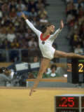 Soviet Gymnast Olga Korbut During Floor Exericises at the Summer Olympics