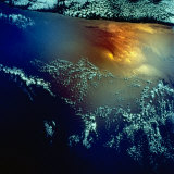 View from Space of Golden Glow over Indian Ocean Created by Pollution