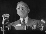 Pres Harry S Truman Making Campaign Speech
