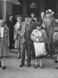 John Maynard Keynes and His Wife During their Trip to the Monetary Conf