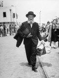 Immigrants Waiting for the Bus on Tel-Aviv Hafa