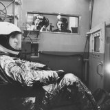 Col John P Stapp Watching a Subject in the Altitude Chamber