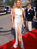 Country Singer Faith Hill in Silver Gown at Country Music Awards at Universal Ampitheater