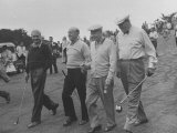 President Dwight D Eisenhower Walking on Golf Course with Others