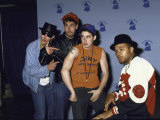 Rap Group the Beastie Boys Adam Horovitz  Adam Yauch  and Mike Diamond with Dj Hurricane