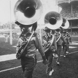 The Baltimore Colts' Marching Band Leaving the Field