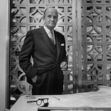 Architect Edward D Stone Sitting in His Office