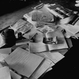Littered Desk in Study Belonging to Albert Einstein