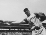 Second Baseman for the Pirates  Bill Mazeroski Throwing a Ball