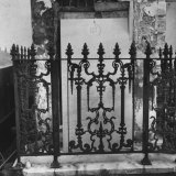 Above-Ground Tomb with Cast-Iron Fence in Cemetery