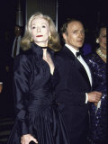 Television Personality Dick Cavett with Wife Actress Carrie Nye
