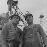 Hard Rock Miner Darrell White Standing with Partner Taking a Breather