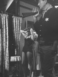 Actress Angie Dickinson During Dress Rehearsal of &quot;Rio Bravo&quot; with Actor John Wayne