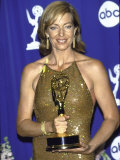 Actress Allison Janney Holding Her Award in Press Room at Primetime Emmy Awards