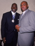 Basketball Players Michael Jordan and Charles Barkley at Great Sports Legend Dinner