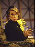 Comedienne Joan Rivers on Set of Her Talk Show